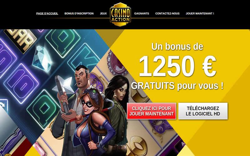 Casino Action - Certifié par la Gaming Commission au Québec - Kahnawake