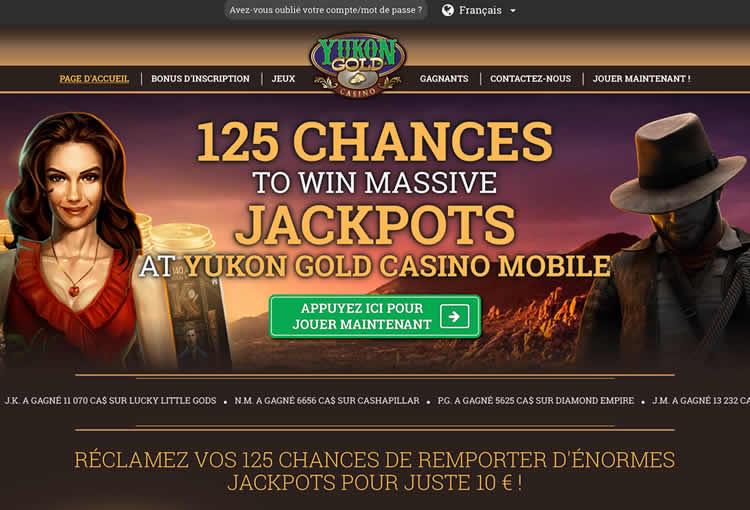 Le site Yukon Gold a une large collection de jeux à jackpot progressif - avec de belles cagnottes à gagner