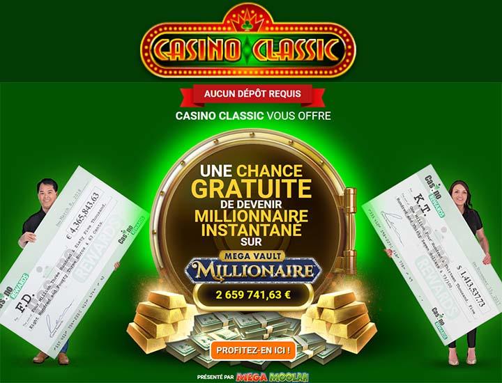 Casino Classic, de Casino Rewards, a une nouvelle slot progressive - Ce jeu a un mega jackpot à gagner - Des millions sont en jeu.