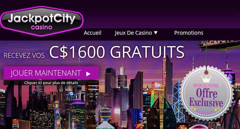 Jackpot City Casino au Canada