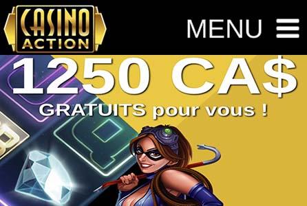 Casino Action est classé en tant que meilleur casino en ligne du Canada par nos testeurs
