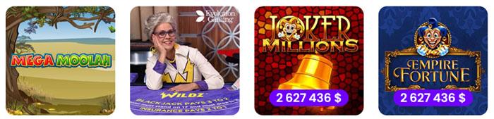 Sur WildZ casino les jeux sont fiables