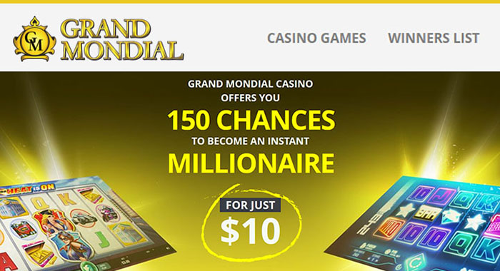 Gagnants au casino Grand Mondial