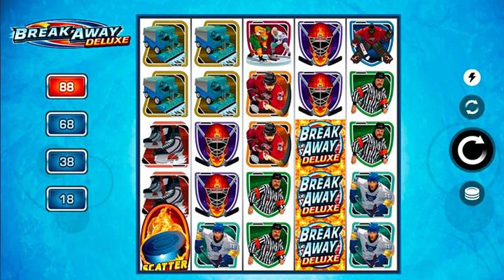 Break Away Deluxe - la machine à sous pour parier en ligne