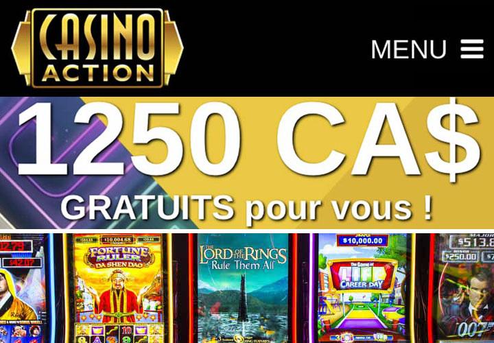 Jeux chez Casino Action Ontario