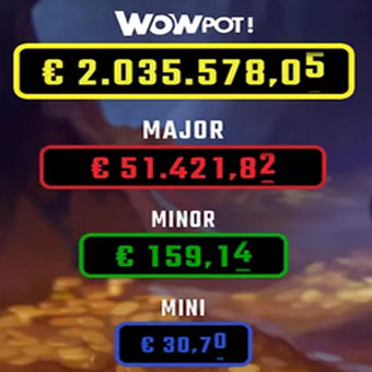 Jackpots WOW à gagner